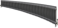 Eastgate Victoriana 3 Column 58 Section Cast Iron Radiator 450mm High x 3526mm Wide - Metallic Finish